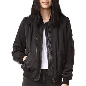 Blank NYC Black Bomber Jacket  - XS
